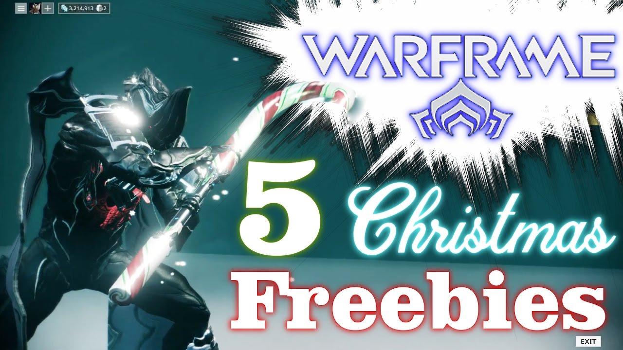 WARFRAME: Christmas FREEBIES! 2016 - YouTube