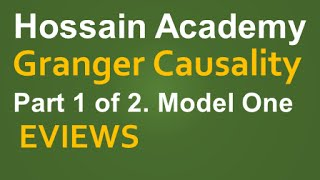 granger causality test model one part 1 of 2 eviews