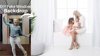 Building DIY Fake Window Backdrop for Photography