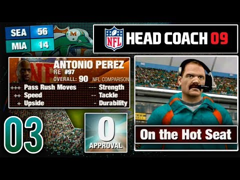 Can We Avoid Being Fired After 1 Season? - NFL Head Coach 09 Career Mode   Ep.3