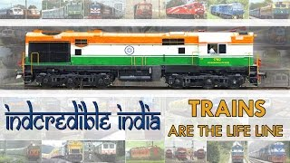 Gambar cover TRAINS are the LIFE Line : INCREDIBLE Indian Railways