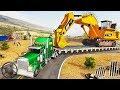 Construction Machines Transporter Truck - Excavator Trailer Cargo - Best Android Gameplay