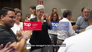 Palladium Hotel Group is certified as TOP EMPLOYER 2021 (English)
