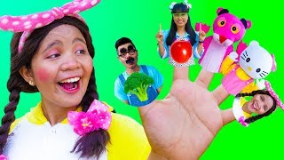 Vegetables Finger Family Song - Nursery Rhymes for Kids
