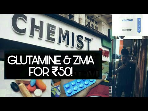 GLUTAMINE & ZMA @Rs 50 only!! from chemist