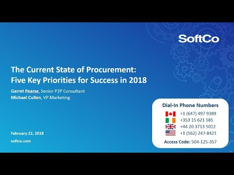 The Current State of Procurement:  Five Key Priorities for Success in 2018