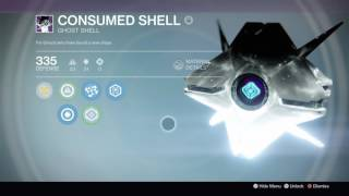Destiny: The Consumed Ghost Shell appearance changed!
