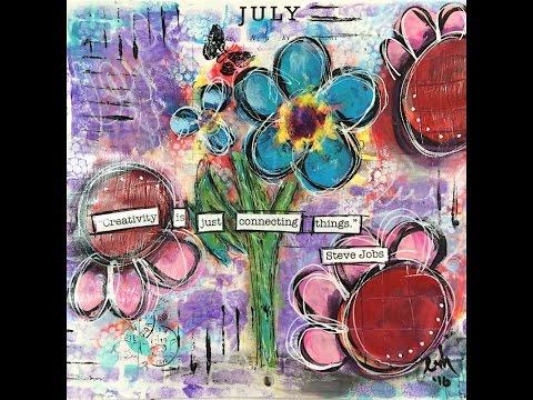 July Calendar Art Journal Page - FULL VERSION