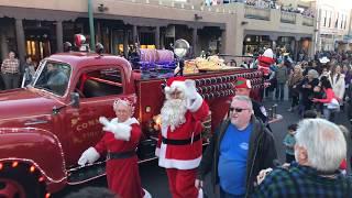Lighting Of The Trees Ceremony 2017 Santa Fe, NM Plaza - Santa & Mrs. Claus Grand Entry