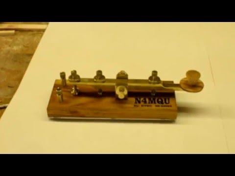 "Home made Morse Code CW key, the ""Titan"""
