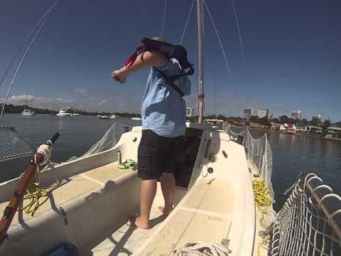 Prepping the Investigator 563 for a sail up Parramatta River