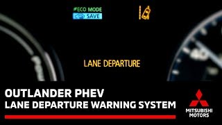How to use the Lane Departure Warning system on a Mitsubishi
