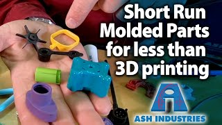 Low volume injection molded plastic parts instead of 3D printing - ASH Supermold