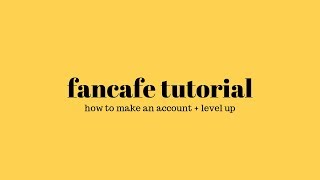 fancafe tutorial how to make an account and level up some rules