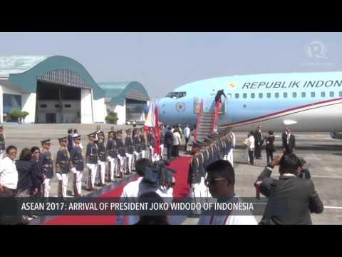 ASEAN 2017: Arrival Of Joko Widodo, President Of Indonesia