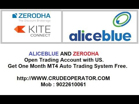 FREE MT4 ROBOT TRADING SOFTWARE FOR ALICEBLUE AND ZERODHA KITE / FREE API