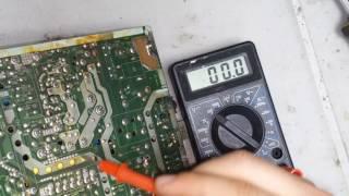 ремонт телевизора LG CF-21D79 мигает светодиод, не включается (шасси mc-994a)