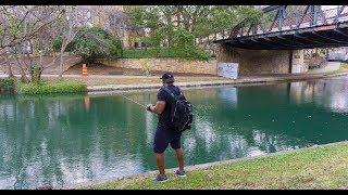 Urban Fishing In Downtown San Antonio | Riverwalk