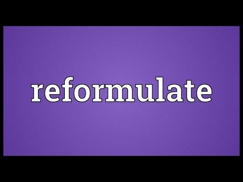 Header of reformulate