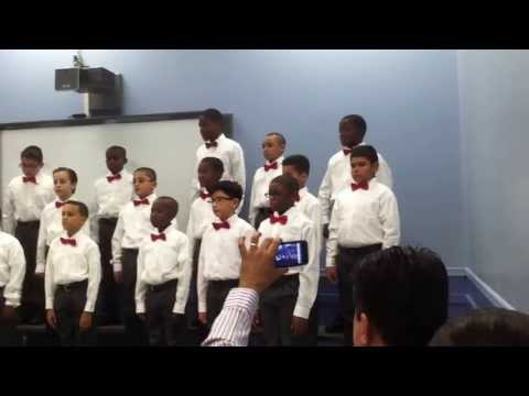 Newark Boys Chorus School: Apprentice Chorus - December `12 dress rehearsal  part 1