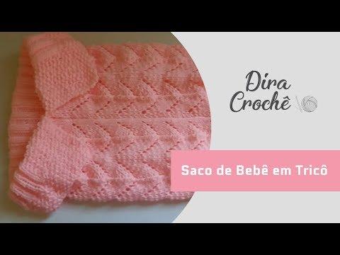 23f432d6b3ab Saco de tricô para bebê - YouTube