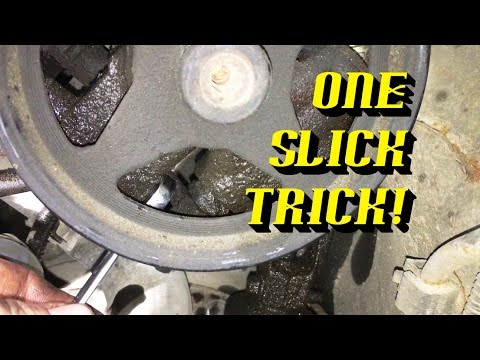 Removing power steering pump pulley ford f150