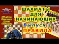 ШАХМАТЫ УРОКИ♔ ОБУЧЕНИЕ для начинающих онлайн ♕ ВИДЕО 1 Шахматные правила игры