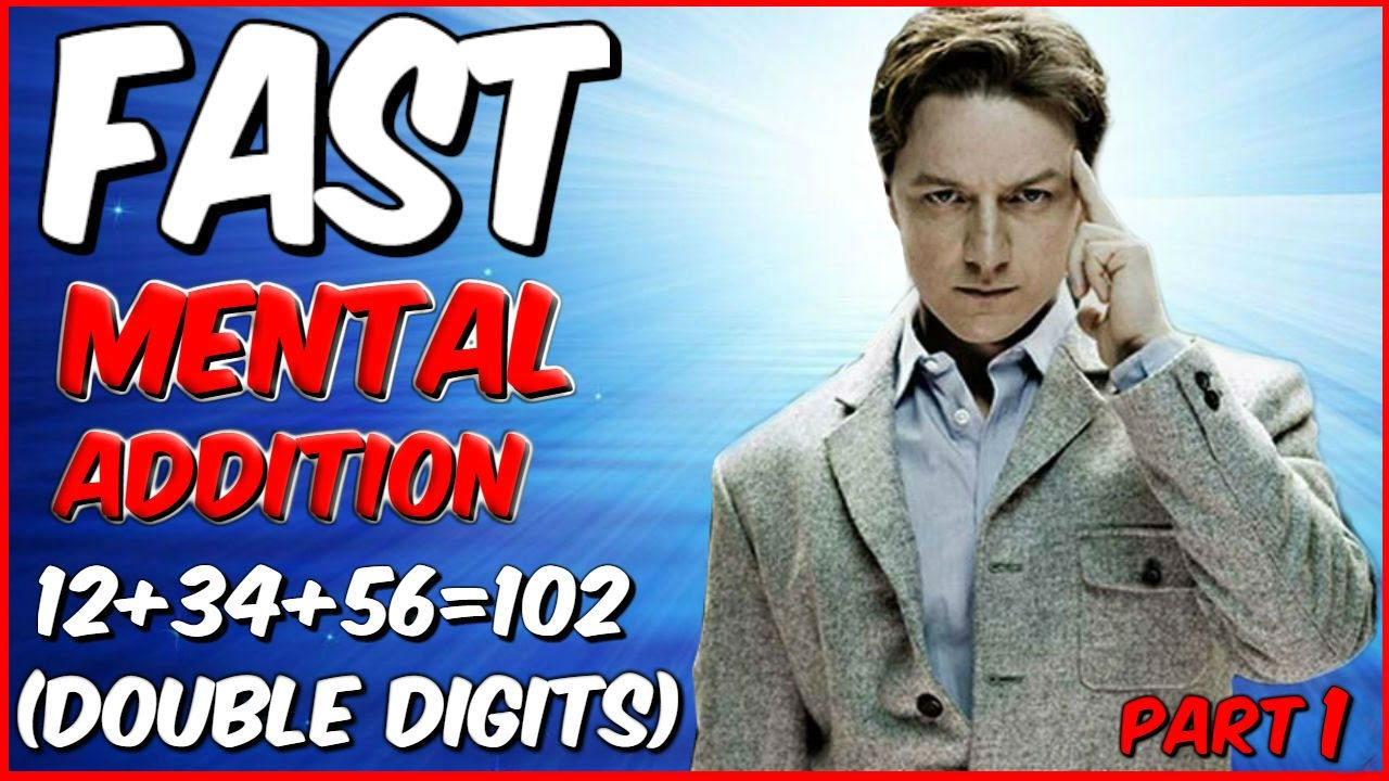 How To Add: Fast Mental Addition Trick For Double Digits Without Carrying  (part 1)