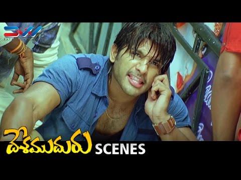 Allu Arjun Takes Revenge on Subbaraju | Desamuduru Telugu Movie Scenes | Hansika | Puri Jagannadh