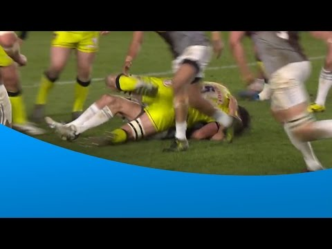 Huge hit by Dominic Barrow