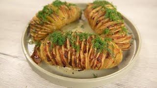 Картошка-гармошка и салат из запеченных томатов. Ели у Емели. Вып.009