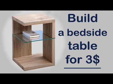 DIY 3$ wooden bedside table | Side coffee table design