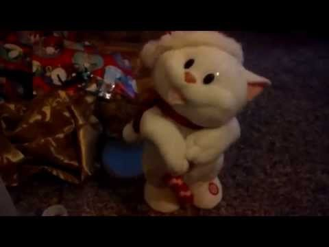Dancing and singing cat stuffed animal