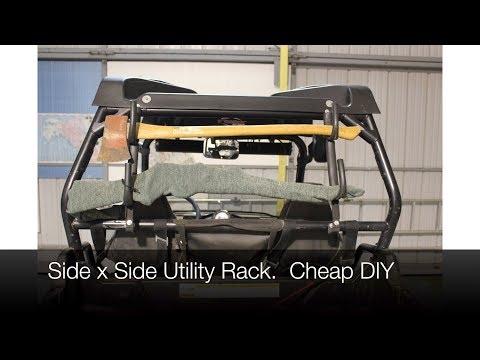 DIY  Side by Side Utility Rack