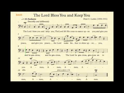 The Lord Bless You and Keep You (Lutkin) - Bass Track