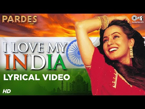 I Love My India Lyrical - Pardes | Sharukhan, Amrish Puri, Mahima Chaudhary | Hariharan, Kavita