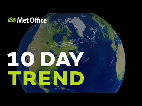 10 Day trend - large uncertainties later next week 15/08/18