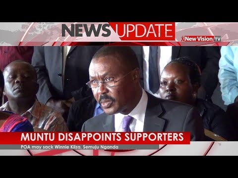 Muntu disappoints Supporters