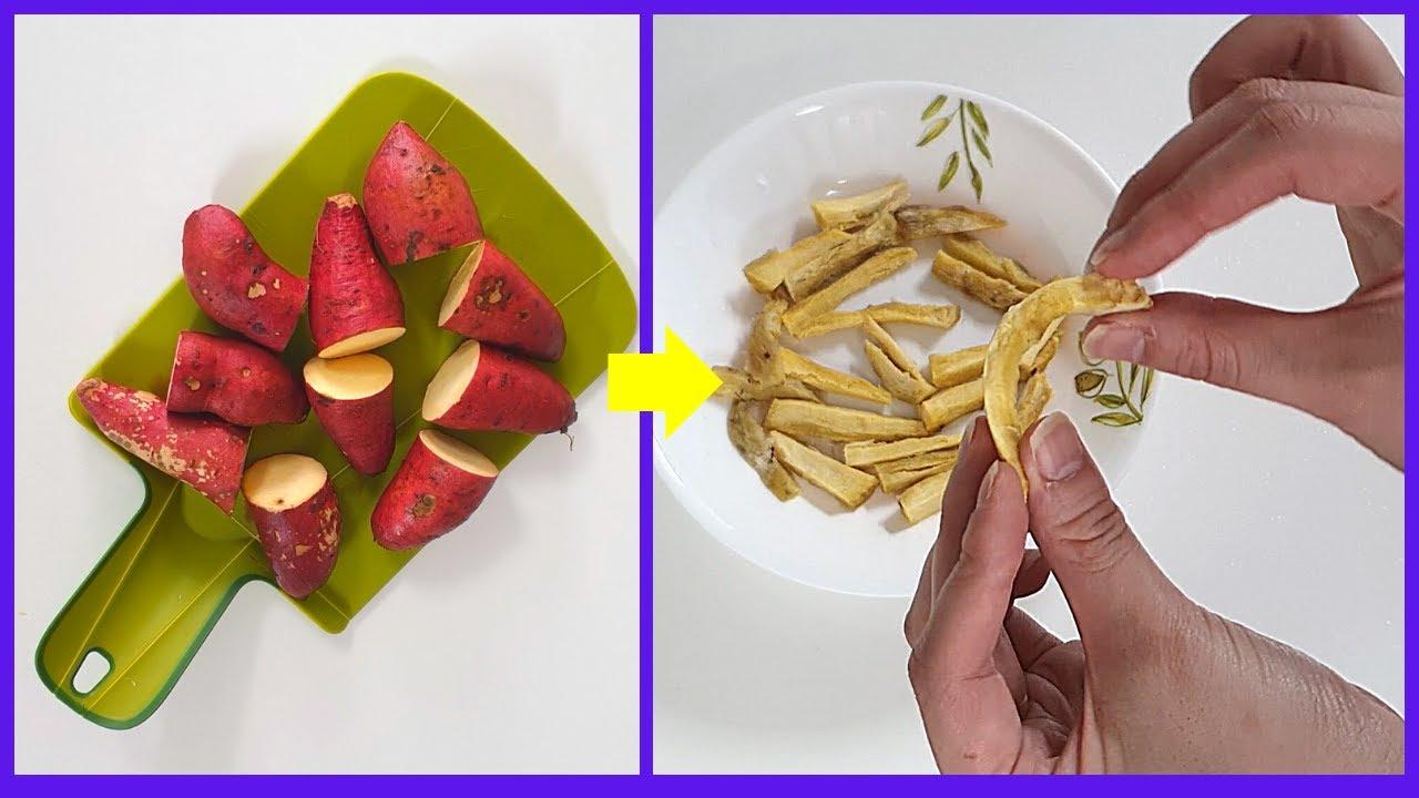 전자렌지 고구마찌기부터 고구마말랭이 전자레인지로 만들기까지ㅣHow to make sweet potato dried steamed-[포인트팁]