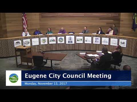 Eugene City Council Meeting, November 13, 2017
