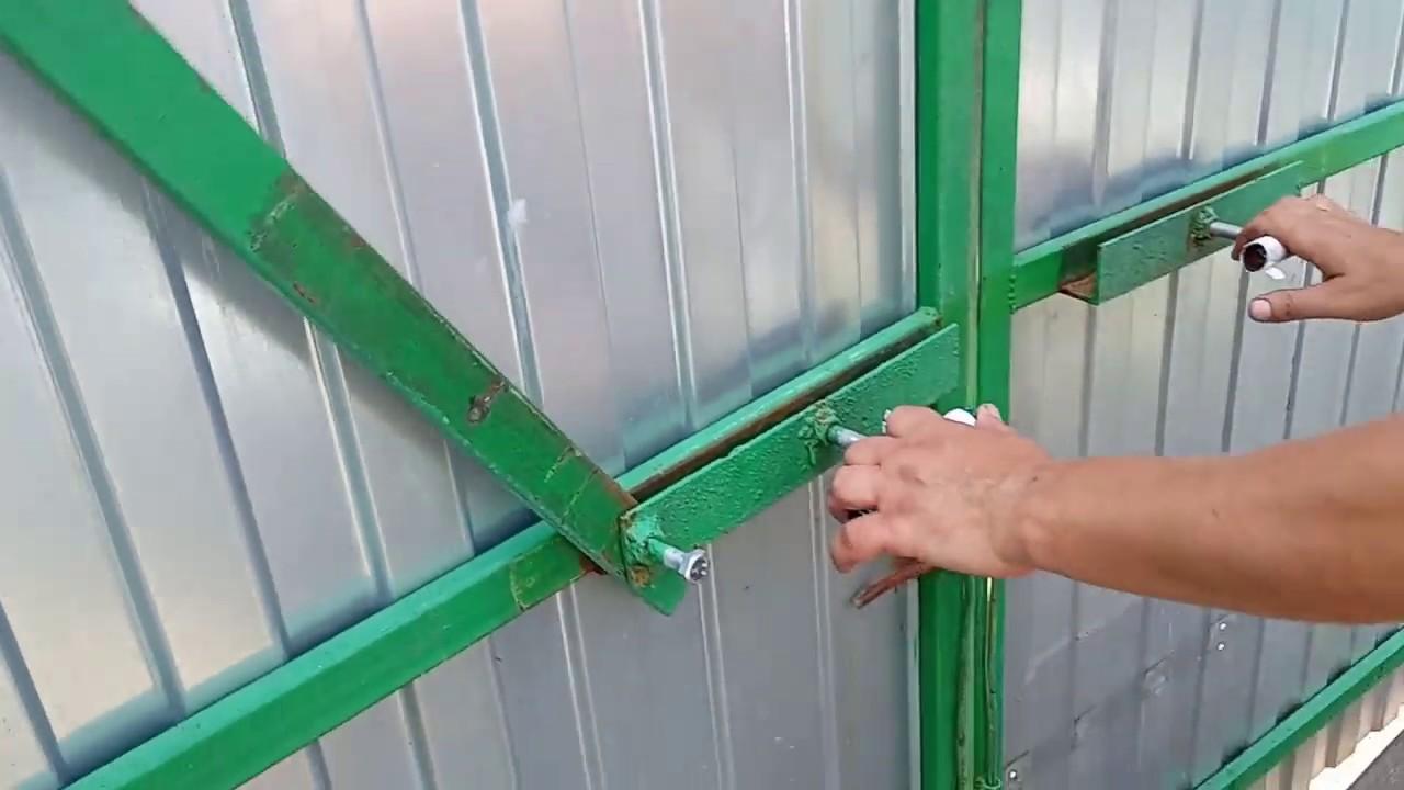 запоры для ворот: простой способ