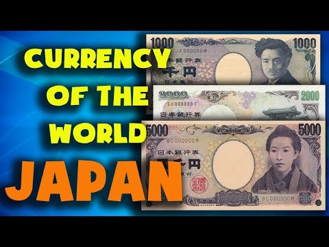 Currency of the world - Japan. Japanese yen. Exchange rates Japan. Japanese banknotes and  coins