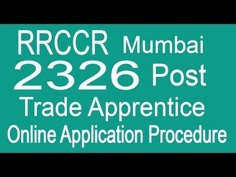 Railway Recruitment Mumbai 2326 Trade Apprentice Online Application Procedure