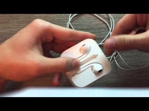 Как смотать наушники от айфона