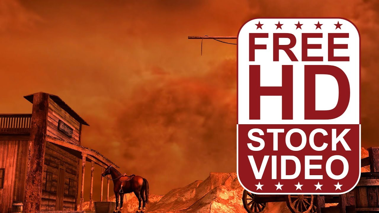 Free Stock Videos Western Scene With Horse Resting Wind