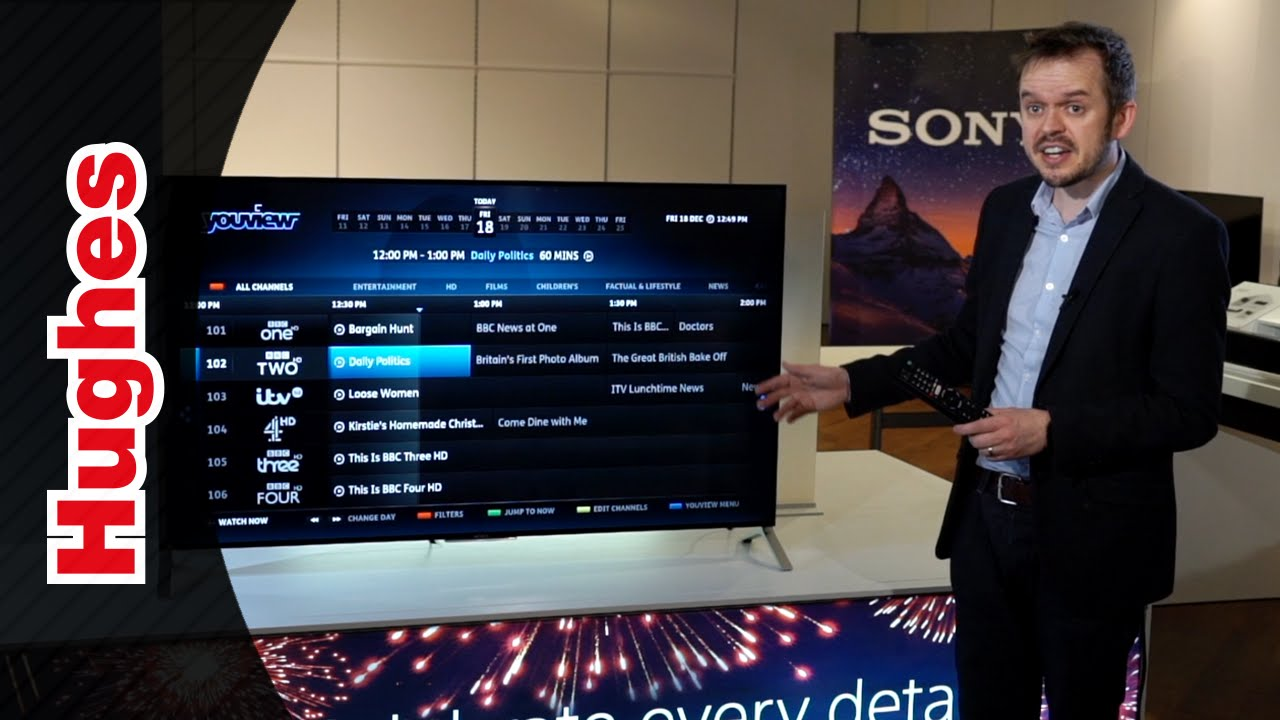 sony tv with youview. sony tv with youview a