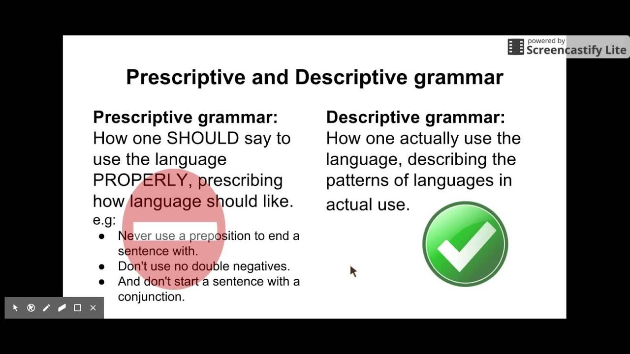 prescriptive grammar