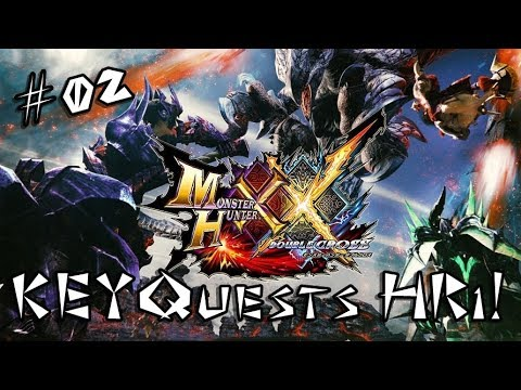 [MHXX] Monster Hunter Double Cross #02 KEYquests do HR1! thumbnail