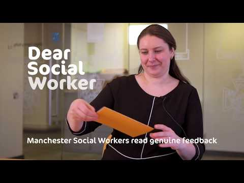 Manchester social workers react to thank you letters from children and families