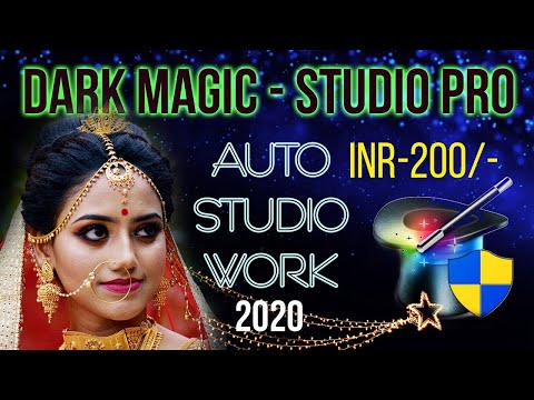 Automatic Studio Work In Any Photoshop - Dark Magic - Studio Pro In HINDI